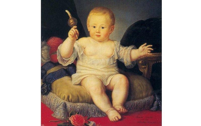 Ж.-Л. Вуаль. Портрет великого князя Александра Павловича в детстве. 1778 г.