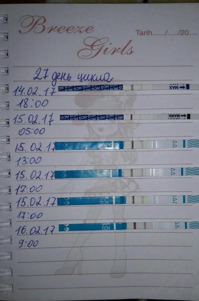 фото тестов до задержки