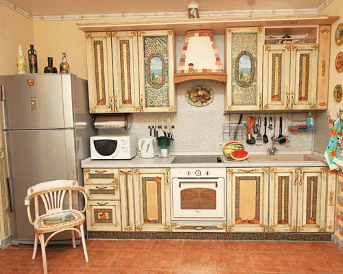 Декупаж старой кухонной мебели своими руками мастеркласс