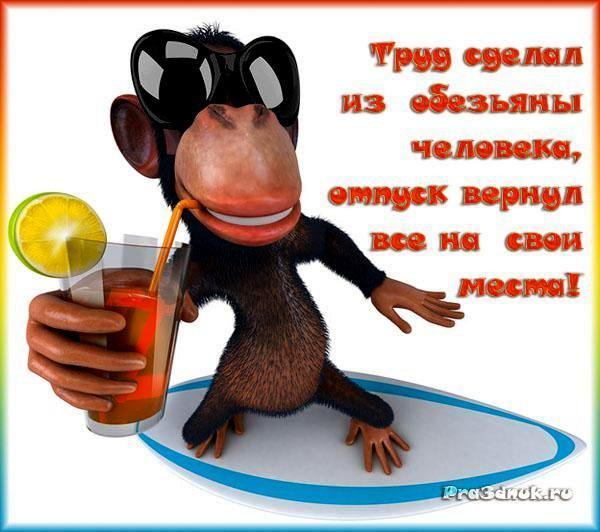 Поздравление с отпуском в картинках смешные с надписями 66