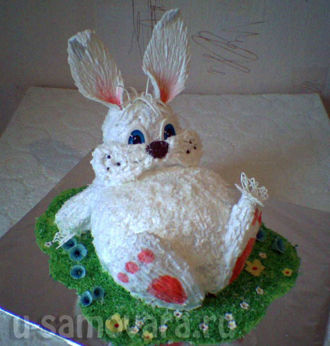 Торт зайчик рецепт с фото