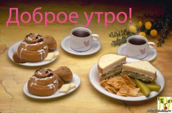 Открытки с добрым утром с чаем