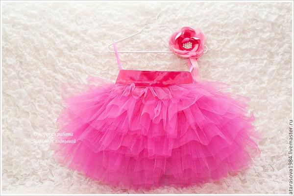 Как сшить юбку многослойную для ребенка