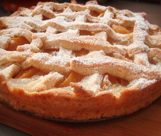 Пирог с персиками открытый рецепт