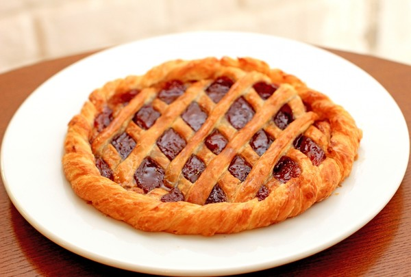 Фото открытый пирог с джемом