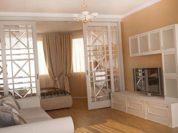 Как отделить спальное место в однокомнатной квартире с