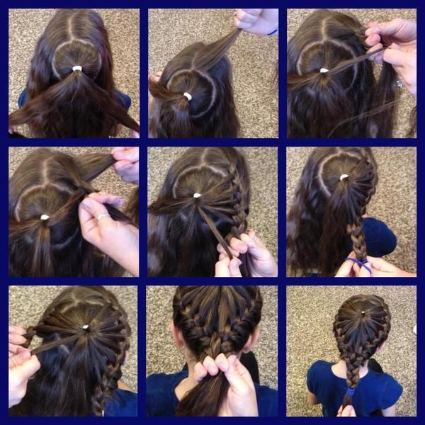 Прически для волос средней длины в домашних условиях для девочек