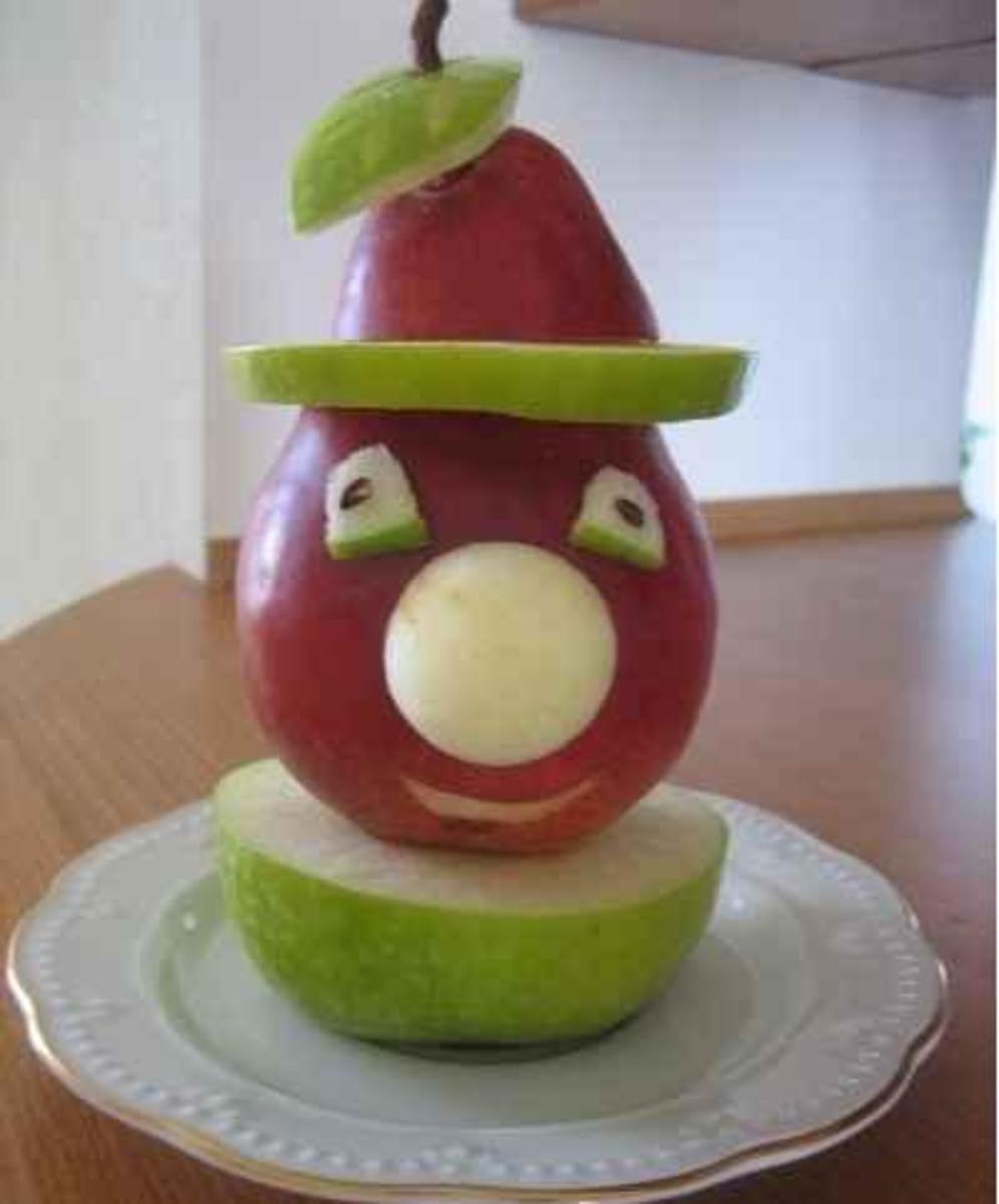 Поделка из свежего яблока 526