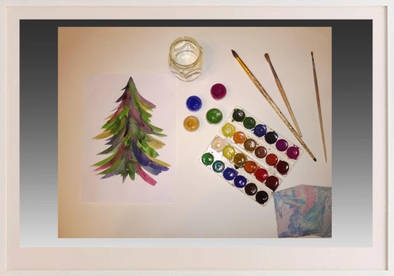 Урок рисования к новому году 3-4 классы