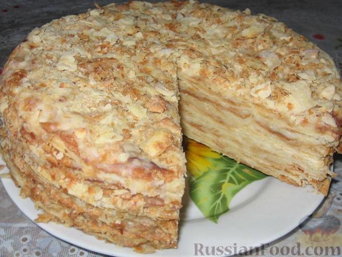 Наполеон торт классический рецепт с фото пошагово
