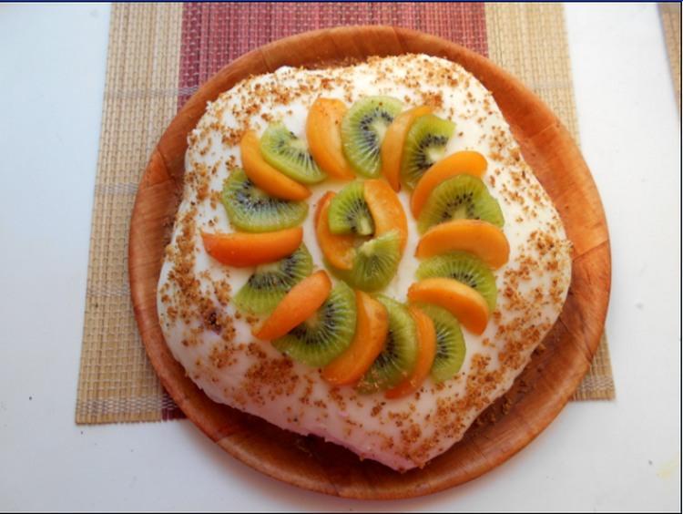 Йогуртовый торт с киви рецепт с пошаговым фото