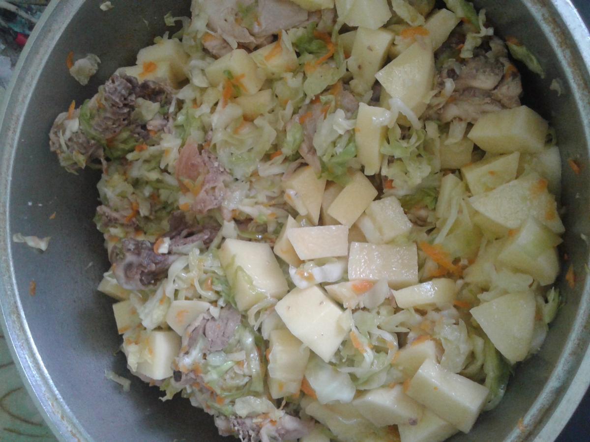 Рецепт как вкусно потушить картошку с капустой