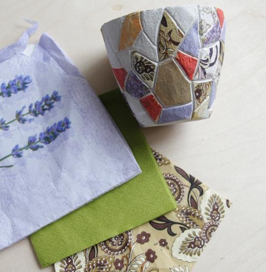 Handmade с детьми: мозаика из салфеток и бумаги