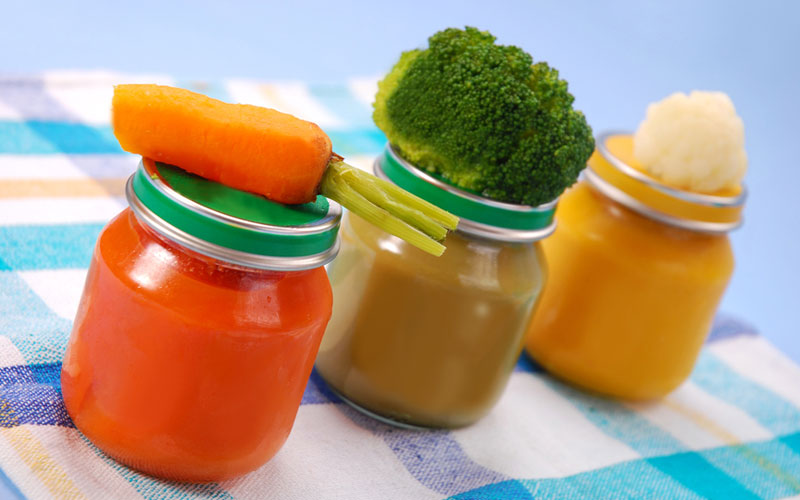 Овощное пюре для малышей: вводим первый прикорм