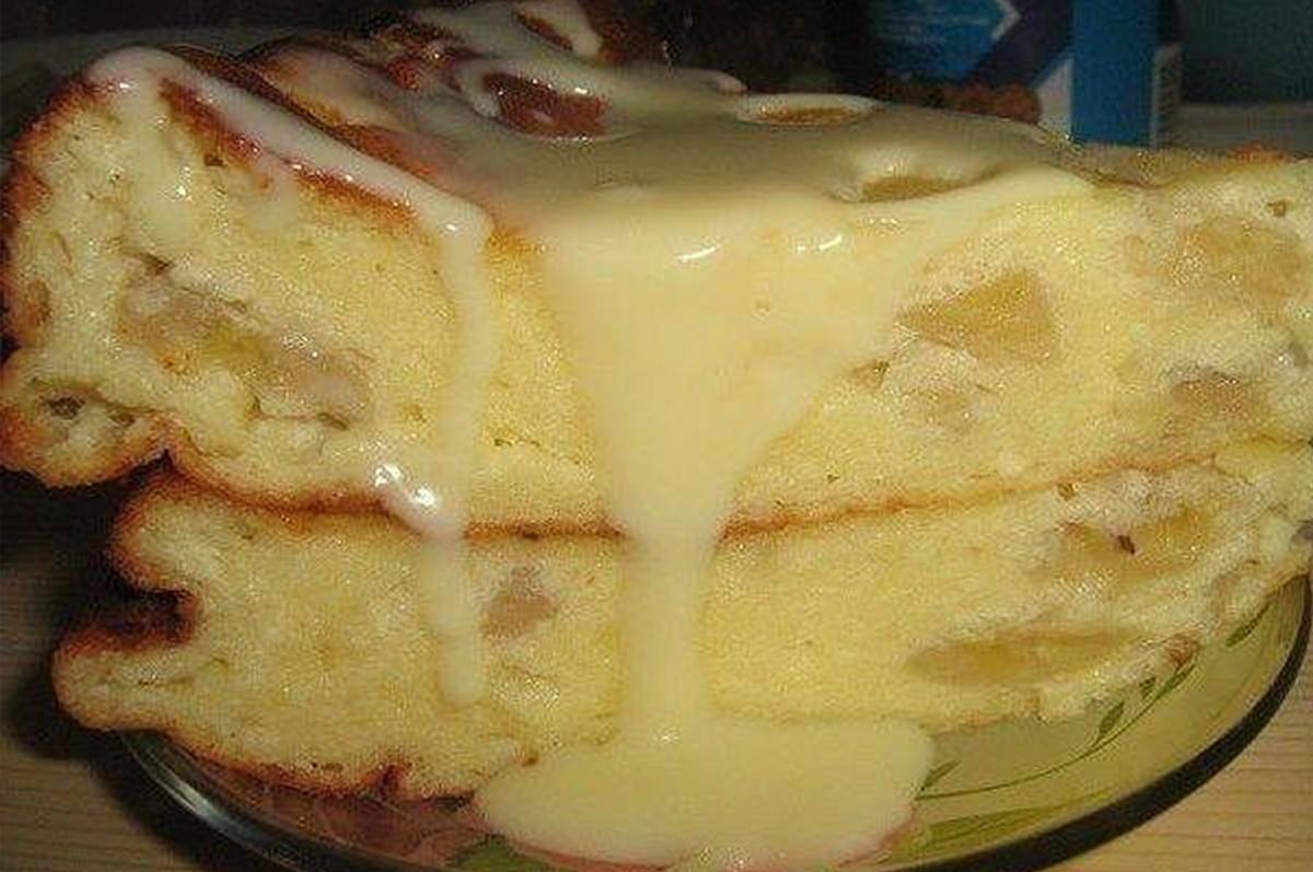 бананово творожный пирог в духовке рецепт с фото