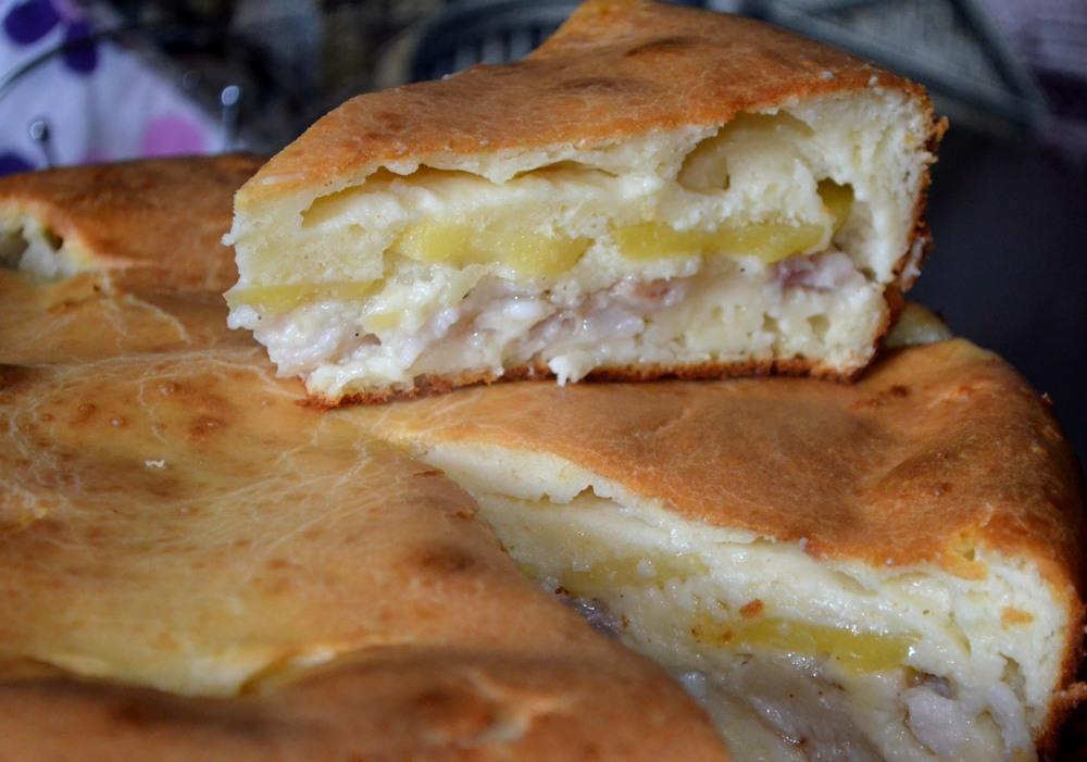 Заливной пирог с рыбой — рецепт с фото. Как приготовить заливной пирог с рыбой на кефире?
