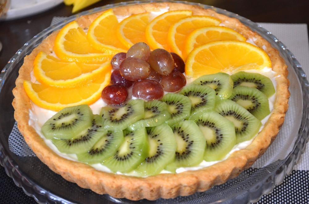 Пирог с фруктами в духовке рецепт с фото