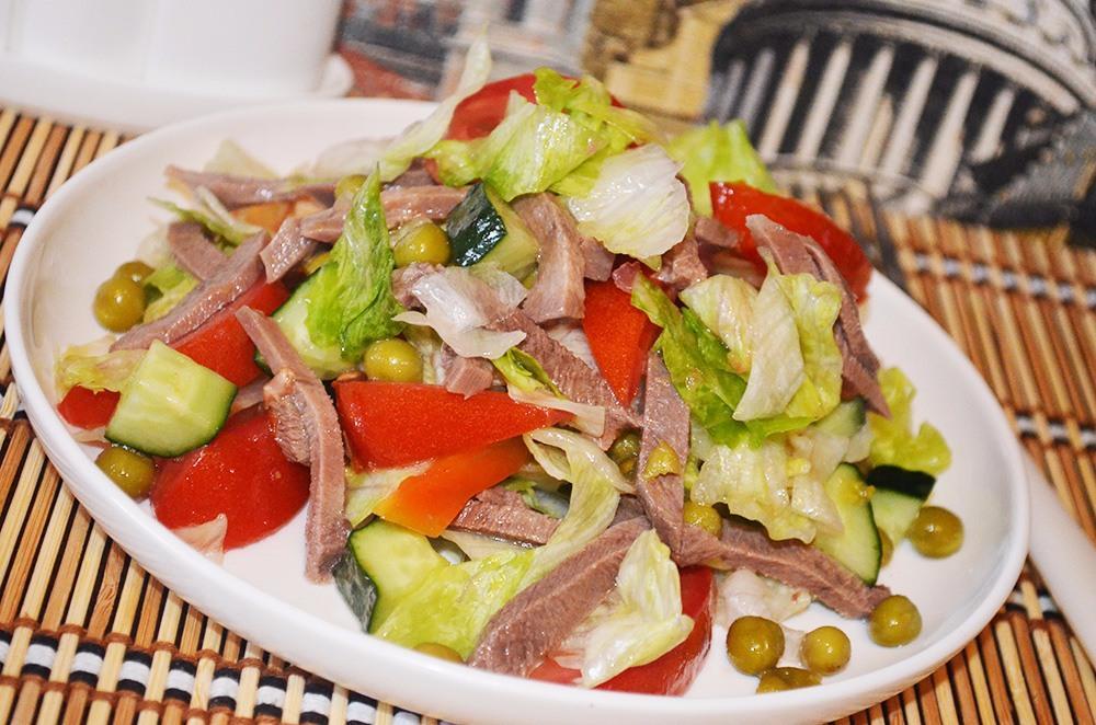 салат с говяжьим языком рецепты с фото