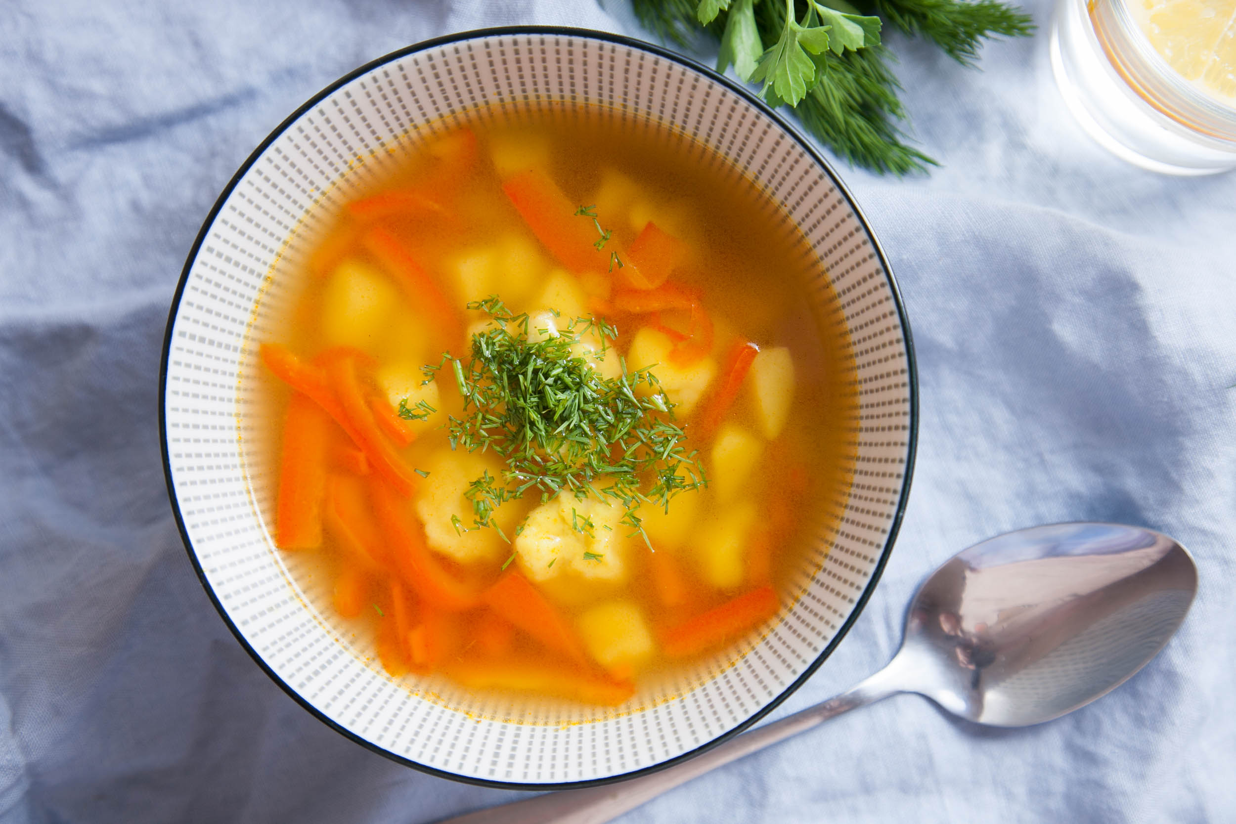 Суп с клецками пошаговый рецепт с для детей