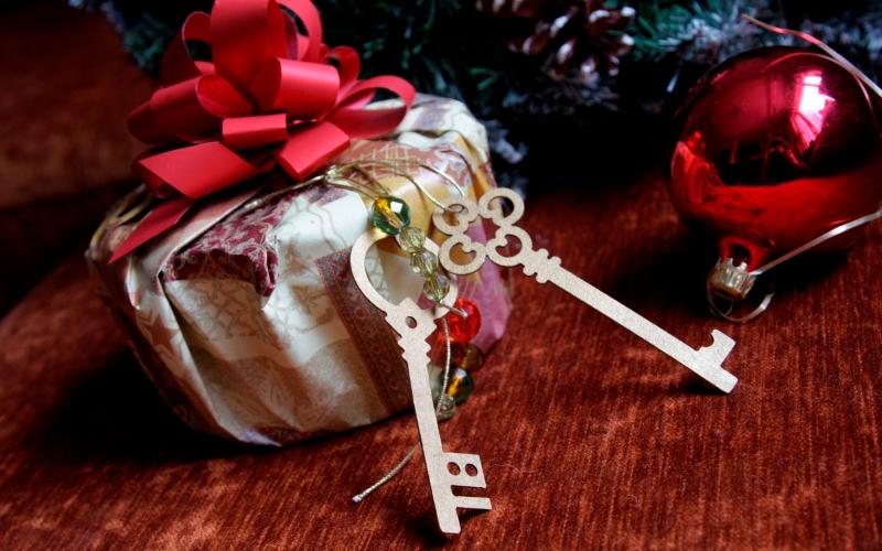 Оформляем подарок к Новому году