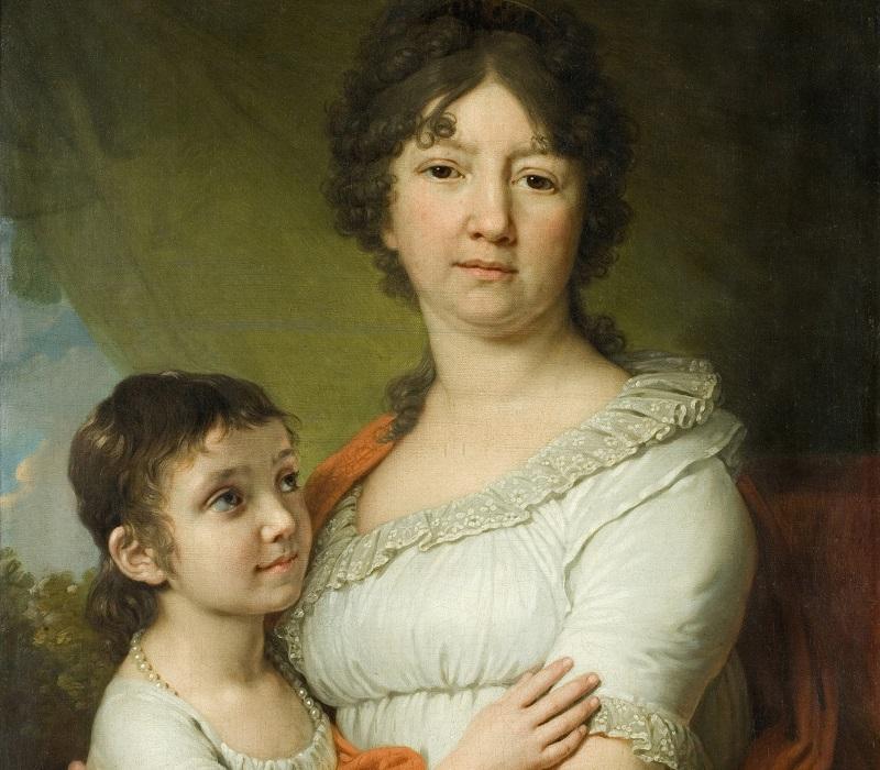 Anna Labzina with ward Sofia by Borovikovsky - Как и чему учили детей на Руси 300 лет назад