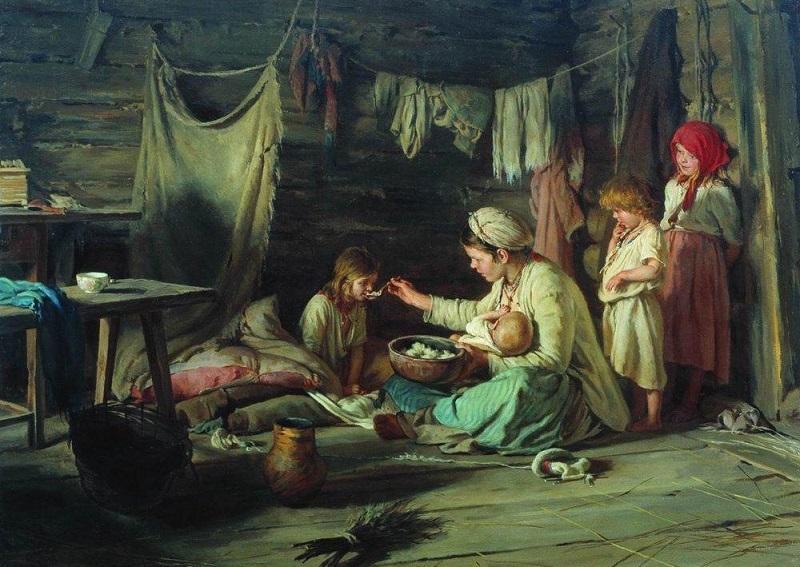 Как кормили грудью на Руси 50, 100 и 200 лет назад: 8 картин