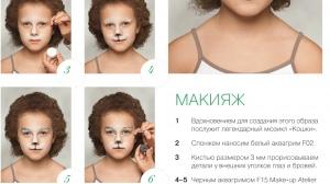 Аквагрим для детей: зайка серенький и другие