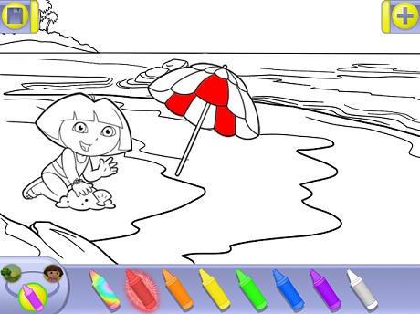 Детская раскраска раскрашивать