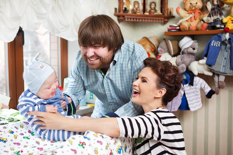 Эвелина бледанс с ребенком