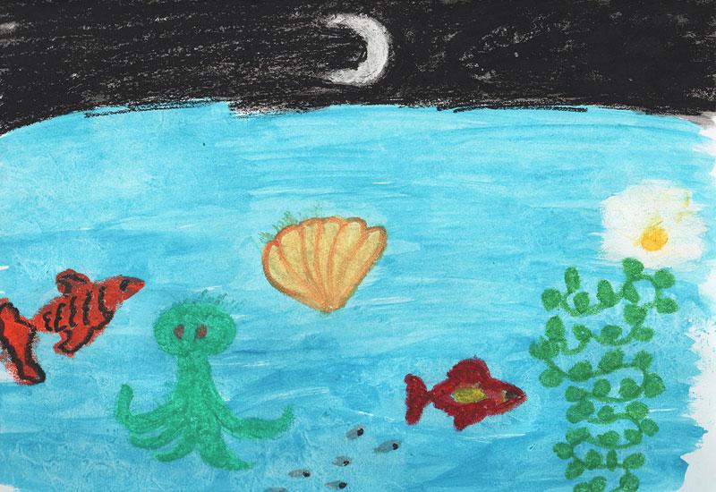 Звездное небо рисовать детям