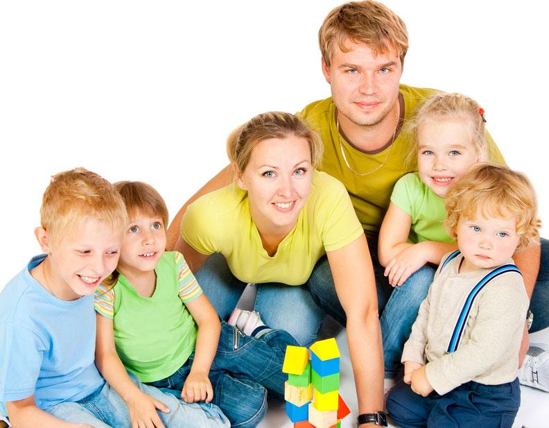 картинки семья дети