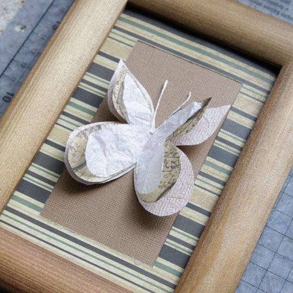 Бабочки из папиросной бумаги