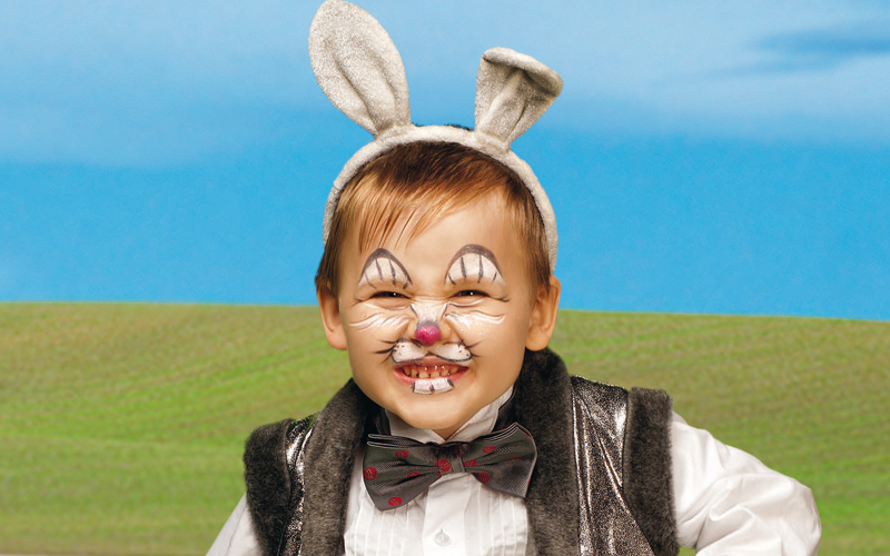 фото аквагрим заяц