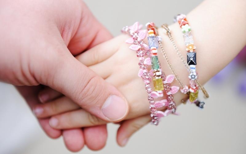 Первые украшения для дочки