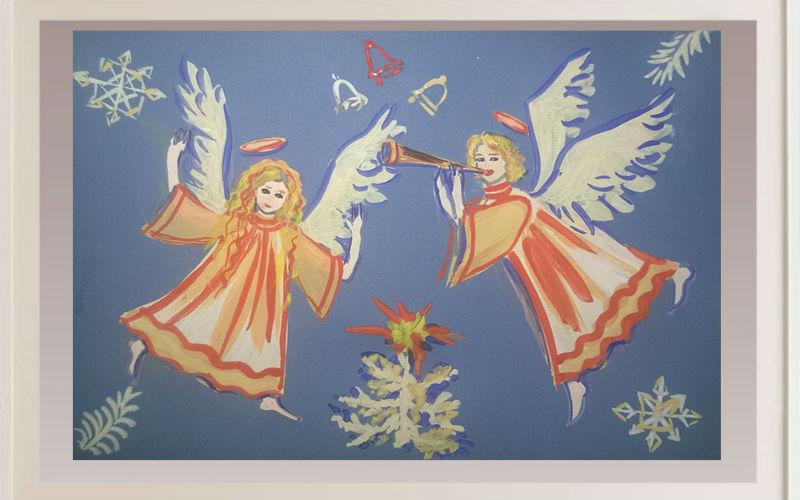 Рисуем рождественских ангелов