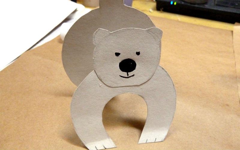 Делаем северного мишку из бумаги
