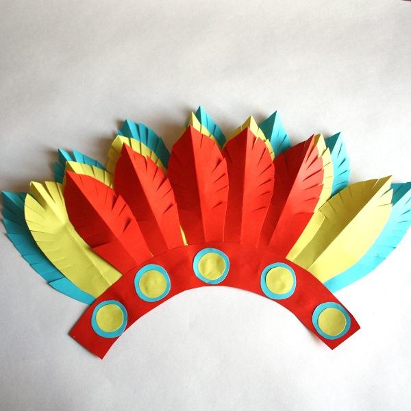 Сделать шапку индейца своими руками