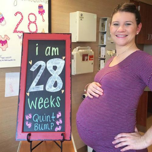 Даниэль Басби на 28-й неделе беременности, Фото: социальные сети