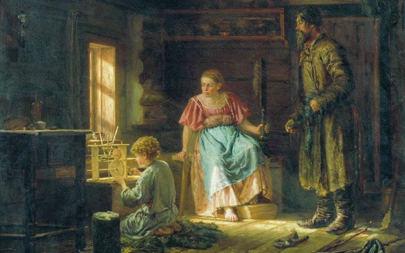 Василий Максимов «Мальчик-механик» (1871)